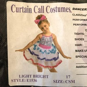 Curtain Call Costumes Costumes - EUC Curtain Call Costumes Light Bright